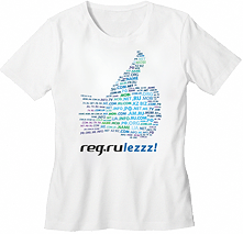 "White T-shirt ""REG.Rulezzz!"""