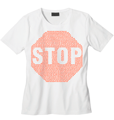 "White T-shirt ""Стоп-лист"" (Stopping list)"