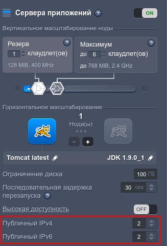 Jelastic. Подключить ipv6 и ipv4 (1)