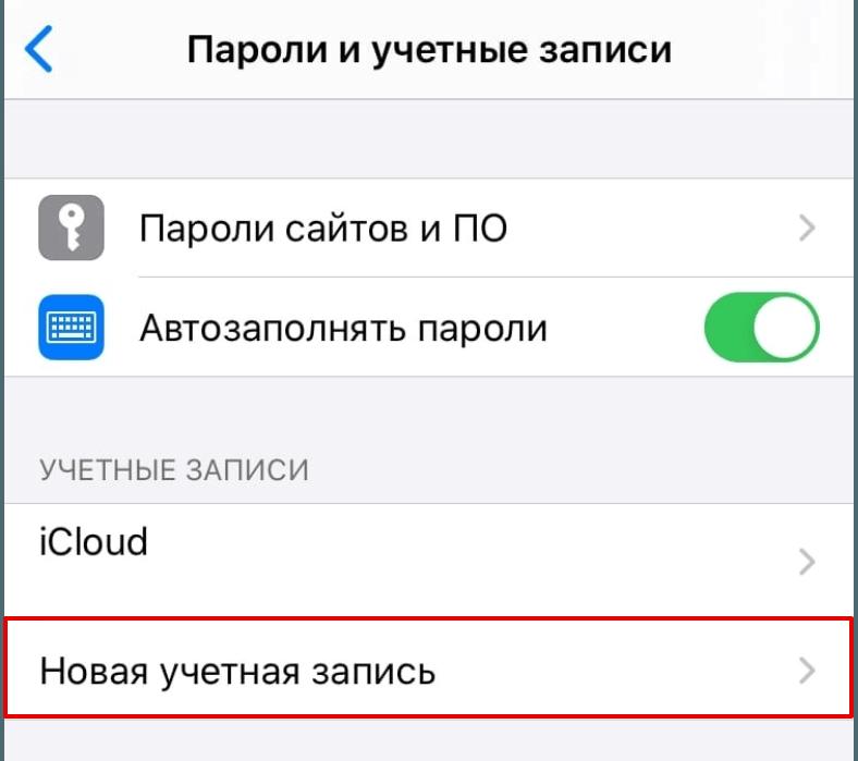 Настройки почты iPhone (iOS) 2