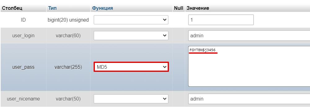 Как восстановить пароль администратора WordPress 3