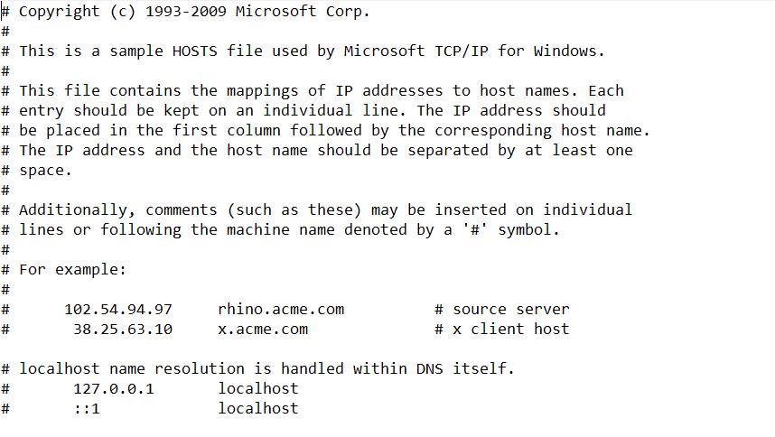Файл hosts 4