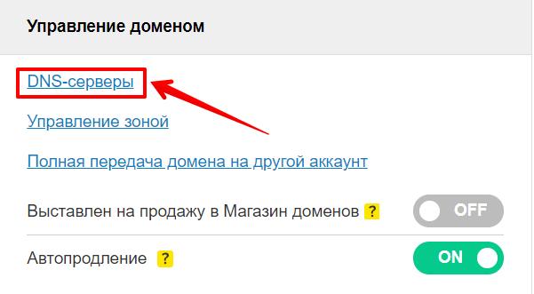 как привязать домен к хостингу 2