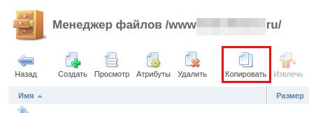 копировать файлы ispmanager5