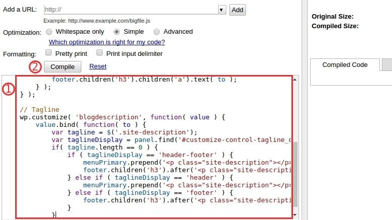 сократить javascript 1