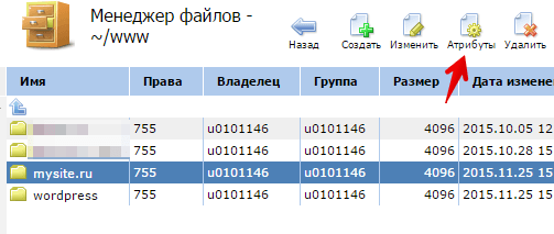 изменить папку сайта ispmanager 1