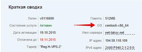 ос сервера vps