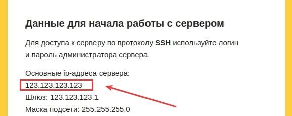 узнать ip адрес выделенного сервера 4