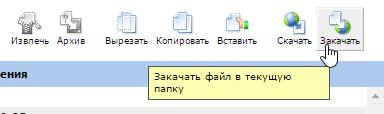 закачать файл в ispmanager 3