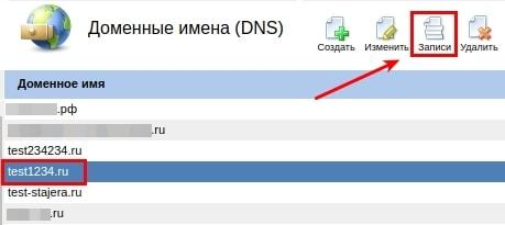 удаление записей dns в ispmanager 4