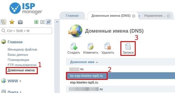 настройка почты mail.ru в ispmanager 5