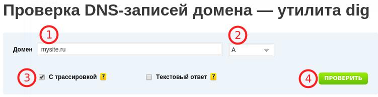 проверка dns-записей домена