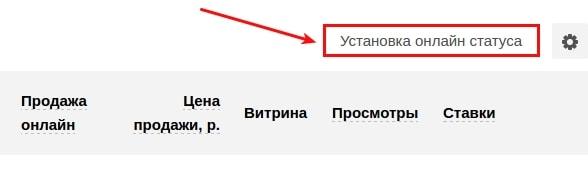 установить онлайн-статус в магазине доменов 1