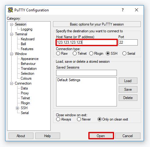 подключение по ssh шаг 2