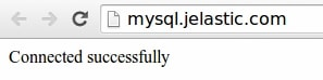Подключение к MySQL (MariaDB) для PHP на Jelastic 3