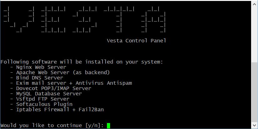 панель управления vesta 3