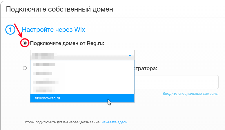Подключите домен от reg.ru