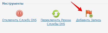 добавить запись dns в plesk