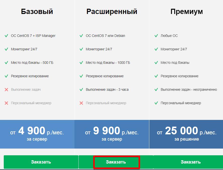 заказать администрирование сервера