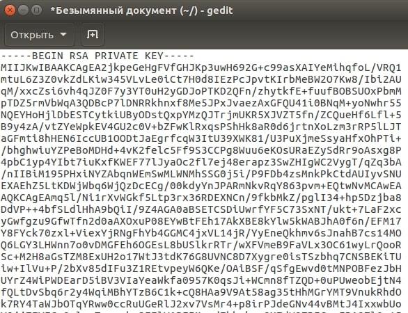 как сохранить приватный ключ 12